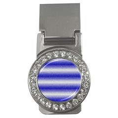 Horizontal Dark Blue Curly Stripes Money Clip (cz) by BestCustomGiftsForYou
