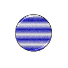 Horizontal Dark Blue Curly Stripes Golf Ball Marker (for Hat Clip) by BestCustomGiftsForYou