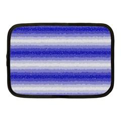 Horizontal Dark Blue Curly Stripes Netbook Sleeve (medium) by BestCustomGiftsForYou