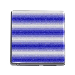 Horizontal Dark Blue Curly Stripes Memory Card Reader With Storage (square) by BestCustomGiftsForYou