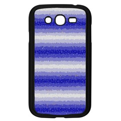 Horizontal Dark Blue Curly Stripes Samsung Galaxy Grand Duos I9082 Case (black) by BestCustomGiftsForYou