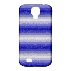 Horizontal Dark Blue Curly Stripes Samsung Galaxy S4 Classic Hardshell Case (pc+silicone) by BestCustomGiftsForYou