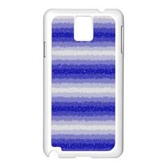 Horizontal Dark Blue Curly Stripes Samsung Galaxy Note 3 N9005 Case (white) by BestCustomGiftsForYou