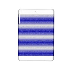 Horizontal Dark Blue Curly Stripes Apple Ipad Mini 2 Hardshell Case by BestCustomGiftsForYou