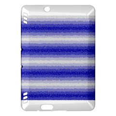 Horizontal Dark Blue Curly Stripes Kindle Fire Hdx Hardshell Case by BestCustomGiftsForYou