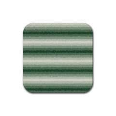Horizontal Dark Green Curly Stripes Drink Coasters 4 Pack (square) by BestCustomGiftsForYou