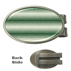 Horizontal Dark Green Curly Stripes Money Clip (oval) by BestCustomGiftsForYou
