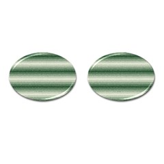 Horizontal Dark Green Curly Stripes Cufflinks (oval) by BestCustomGiftsForYou