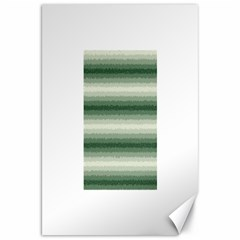 Horizontal Dark Green Curly Stripes Canvas 20  X 30  (unframed) by BestCustomGiftsForYou