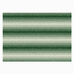 Horizontal Dark Green Curly Stripes Glasses Cloth (large, Two Sided) by BestCustomGiftsForYou