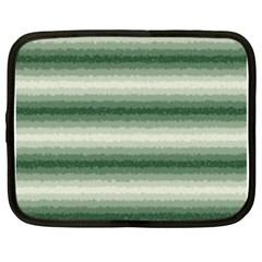 Horizontal Dark Green Curly Stripes Netbook Sleeve (xl) by BestCustomGiftsForYou