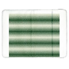 Horizontal Dark Green Curly Stripes Samsung Galaxy Tab 7  P1000 Flip Case by BestCustomGiftsForYou