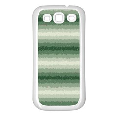 Horizontal Dark Green Curly Stripes Samsung Galaxy S3 Back Case (white) by BestCustomGiftsForYou