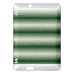 Horizontal Dark Green Curly Stripes Kindle Fire Hdx Hardshell Case by BestCustomGiftsForYou
