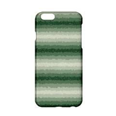 Horizontal Dark Green Curly Stripes Apple Iphone 6 Hardshell Case by BestCustomGiftsForYou