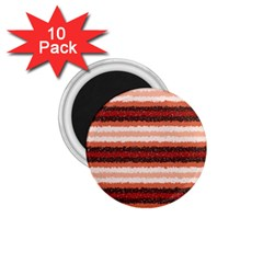 Horizontal Native American Curly Stripes   1 1 75  Button Magnet (10 Pack)