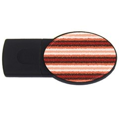 Horizontal Native American Curly Stripes - 1 1GB USB Flash Drive (Oval) by BestCustomGiftsForYou