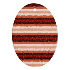 Horizontal Native American Curly Stripes   1 Oval Ornament (two Sides) by BestCustomGiftsForYou