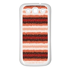 Horizontal Native American Curly Stripes   1 Samsung Galaxy S3 Back Case (white) by BestCustomGiftsForYou