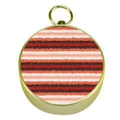 Horizontal Native American Curly Stripes   1 Gold Compass by BestCustomGiftsForYou