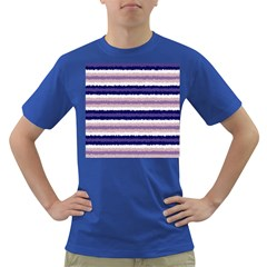 Horizontal Native American Curly Stripes   2 Men s T Shirt (colored) by BestCustomGiftsForYou