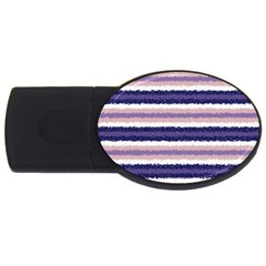 Horizontal Native American Curly Stripes   2 4gb Usb Flash Drive (oval) by BestCustomGiftsForYou
