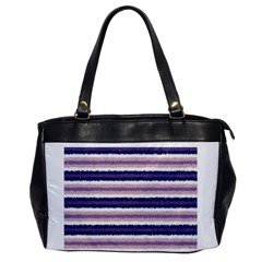 Horizontal Native American Curly Stripes   2 Oversize Office Handbag (one Side) by BestCustomGiftsForYou