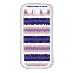Horizontal Native American Curly Stripes   2 Samsung Galaxy S3 Back Case (white) by BestCustomGiftsForYou