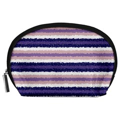 Horizontal Native American Curly Stripes   2 Accessory Pouch (large) by BestCustomGiftsForYou