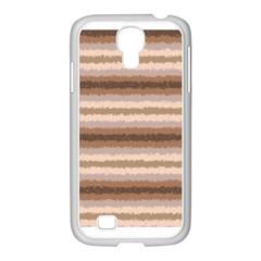 Horizontal Native American Curly Stripes   3 Samsung Galaxy S4 I9500/ I9505 Case (white) by BestCustomGiftsForYou