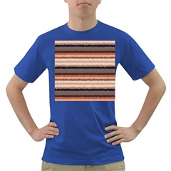 Horizontal Native American Curly Stripes   4 Men s T Shirt (colored) by BestCustomGiftsForYou