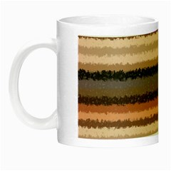 Horizontal Native American Curly Stripes - 4 Glow in the Dark Mug by BestCustomGiftsForYou