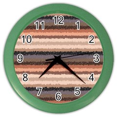 Horizontal Native American Curly Stripes   4 Wall Clock (color) by BestCustomGiftsForYou