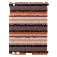 Horizontal Native American Curly Stripes   4 Apple Ipad 3/4 Hardshell Case (compatible With Smart Cover) by BestCustomGiftsForYou