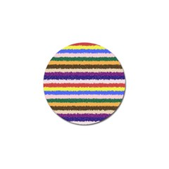 Horizontal Vivid Colors Curly Stripes   1 Golf Ball Marker by BestCustomGiftsForYou