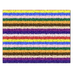 Horizontal Vivid Colors Curly Stripes   1 Jigsaw Puzzle (rectangle) by BestCustomGiftsForYou