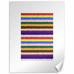 Horizontal Vivid Colors Curly Stripes   1 Canvas 18  X 24  (unframed) by BestCustomGiftsForYou