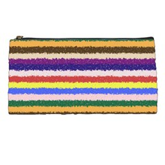 Horizontal Vivid Colors Curly Stripes   1 Pencil Case by BestCustomGiftsForYou