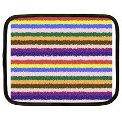 Horizontal Vivid Colors Curly Stripes - 1 Netbook Sleeve (XXL) by BestCustomGiftsForYou