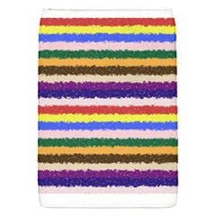 Horizontal Vivid Colors Curly Stripes   1 Removable Flap Cover (small) by BestCustomGiftsForYou