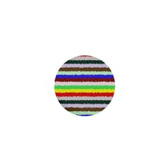Horizontal Vivid Colors Curly Stripes   2 1  Mini Button by BestCustomGiftsForYou
