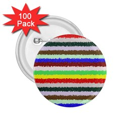 Horizontal Vivid Colors Curly Stripes   2 2 25  Button (100 Pack) by BestCustomGiftsForYou