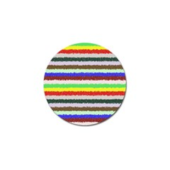 Horizontal Vivid Colors Curly Stripes   2 Golf Ball Marker 4 Pack by BestCustomGiftsForYou