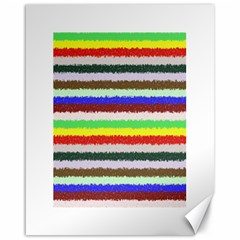 Horizontal Vivid Colors Curly Stripes   2 Canvas 16  X 20  (unframed) by BestCustomGiftsForYou