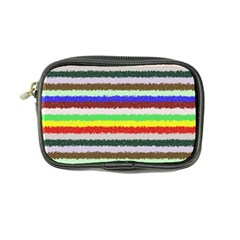 Horizontal Vivid Colors Curly Stripes   2 Coin Purse by BestCustomGiftsForYou