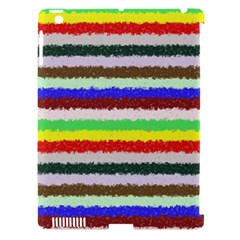 Horizontal Vivid Colors Curly Stripes   2 Apple Ipad 3/4 Hardshell Case (compatible With Smart Cover) by BestCustomGiftsForYou