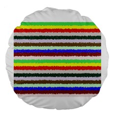 Horizontal Vivid Colors Curly Stripes   2 18  Premium Round Cushion  by BestCustomGiftsForYou