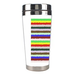 Horizontal Vivid Colors Curly Stripes   2 Stainless Steel Travel Tumbler by BestCustomGiftsForYou