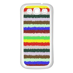 Horizontal Vivid Colors Curly Stripes   2 Samsung Galaxy S3 Back Case (white) by BestCustomGiftsForYou