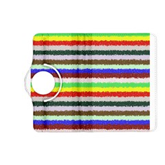 Horizontal Vivid Colors Curly Stripes   2 Kindle Fire Hd (2013) Flip 360 Case by BestCustomGiftsForYou